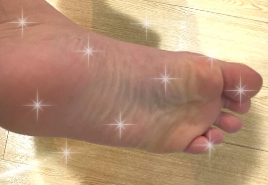 綺麗になった 足の裏