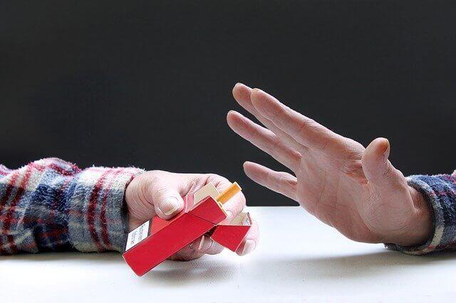 タバコを断る仕草