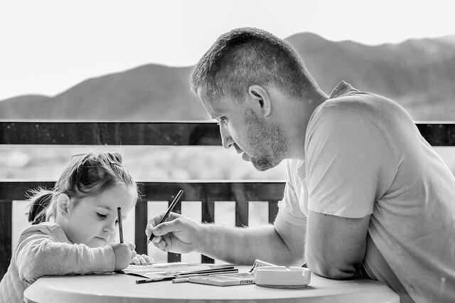 娘とお父さん 勉強